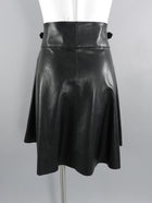 Jason Wu Black leather Short Skirt with Buckles at Waist