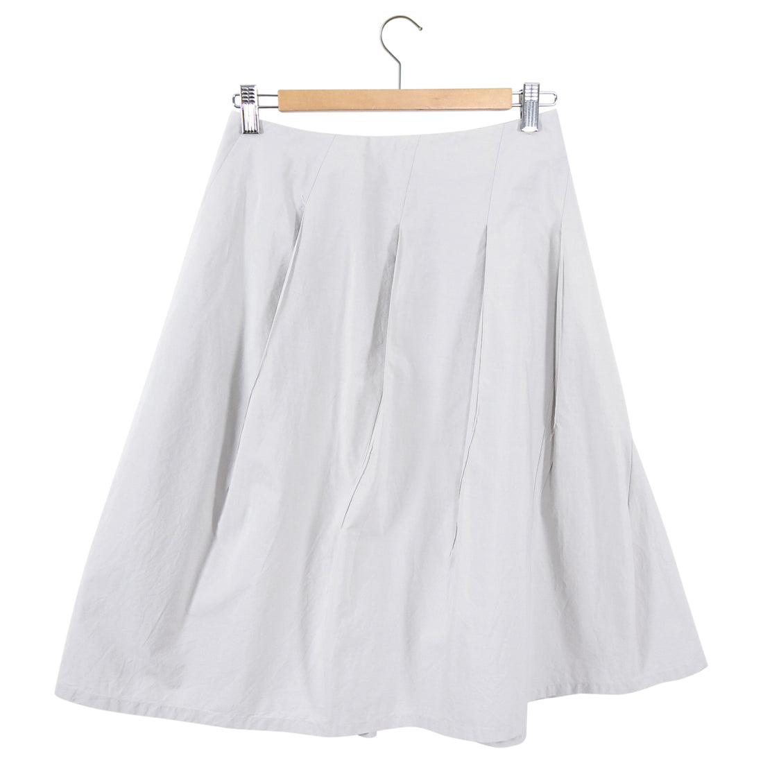 Jil Sander Light Dove Grey Cotton Twist Seam Skirt - FR36 / 4