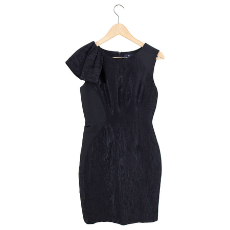 J Mendel Black Brocade Sleeveless Cocktail Dress - XS / 2