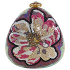 Judith Leiber Flower Jewelled Strass Minaudiere Evening Bag