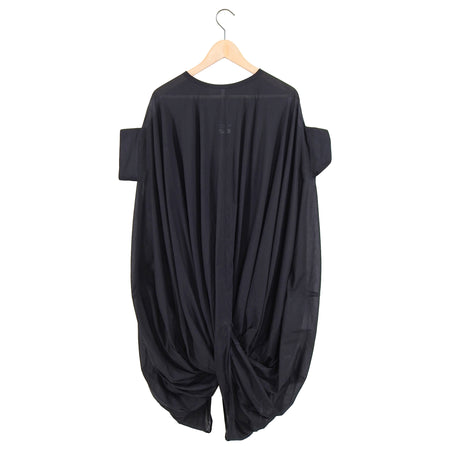 Junya Watanabe Black Sheer Cotton Bubble Hem Dress - S / 6
