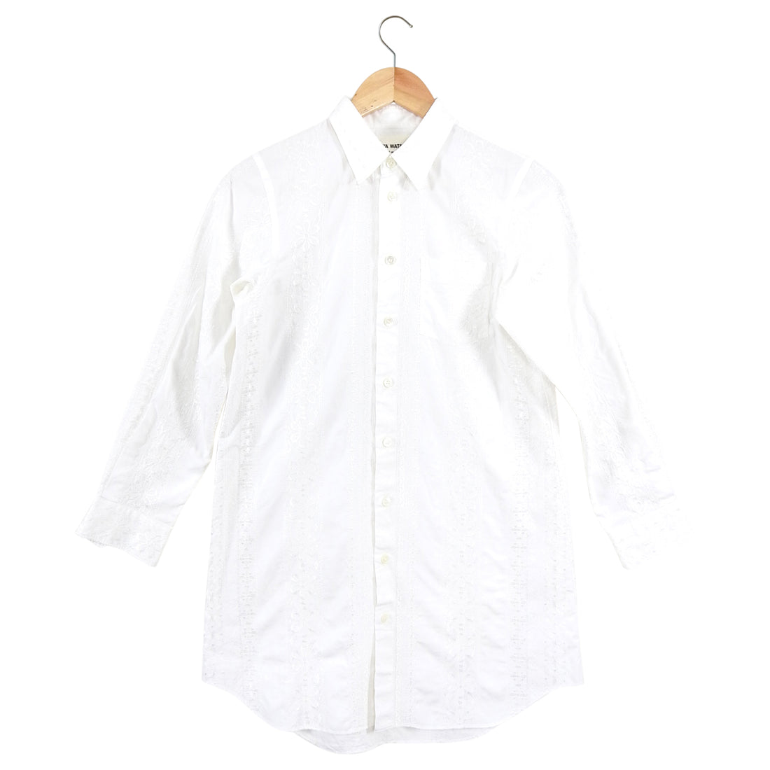 Junya Watanabe Comme des Garcons White Embroidered Shirt - 4