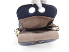 JW Anderson Navy Blue Leather Pierce Shoulder Bag