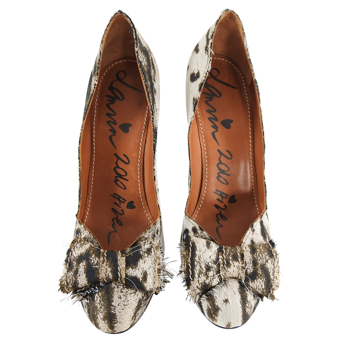 lanvin Pre-fall 2010 Fabric Animal Print Pumps