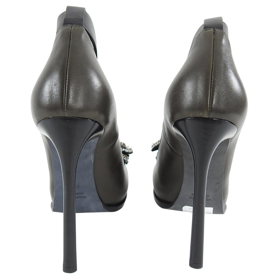 Lanvin Fall 2011 Dark Grey Rhinestone Jewel Pumps - 40.5