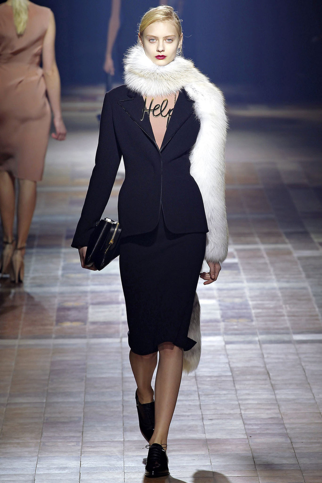 "Lanvin Fall 2013 Runway ""help"" Statement Necklace"