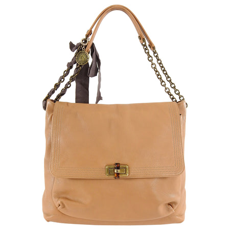 Lanvin Large Caramel Brown Happy Chain Strap Bag