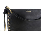 Lanvin Resort 2015 Black Leather Bag with Gold Chain Fringe and Beads