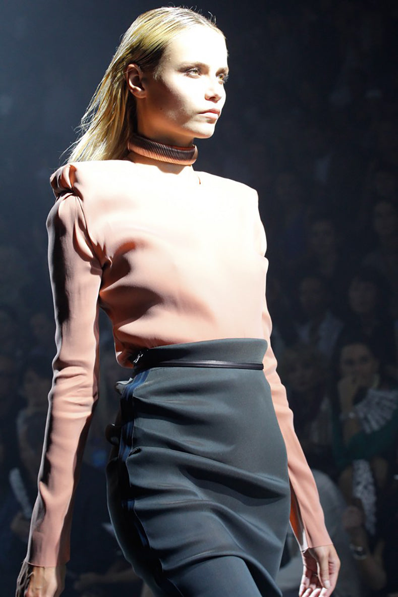 Lanvin Spring 2012 Ruway Gold Metal Choker Necklace