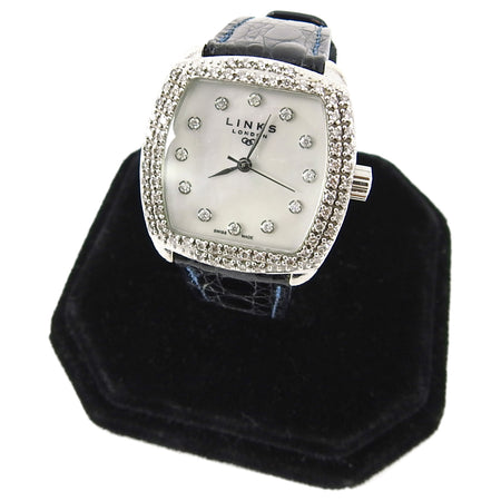 Links of London Sterling Silver Mother of Pearl Watch with Diamonds