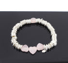 Links Sweetie Sterling Silver Bracelet with Pink Hearts