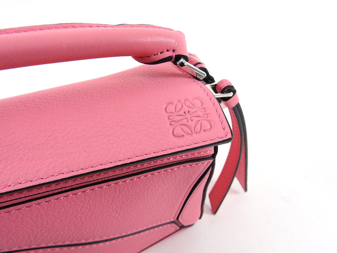 Loewe Hot Pink Mini Puzzle Crossbody Bag