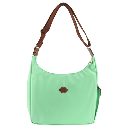 Longchamp Le Pliage Pastel Green Nylon Hobo Bag