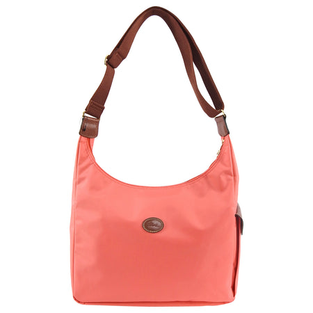 Longchamp Le Pliage Flamingo Pink Nylon Hobo Bag
