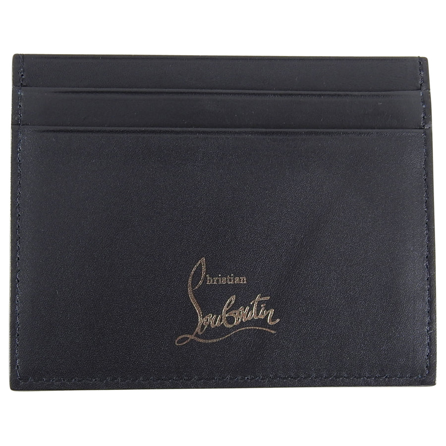 Christian Louboutin Black Kios Studded Leather Card Holder