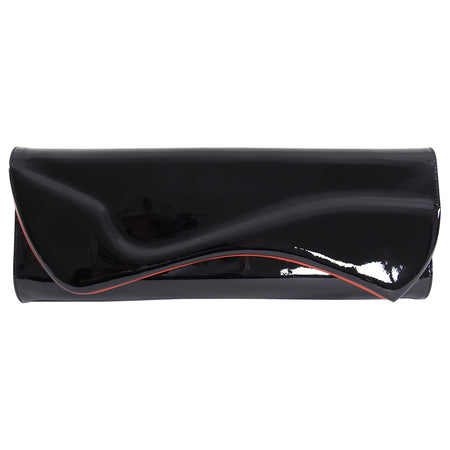 Christian Louboutin Black Patent Pigalle Clutch Bag