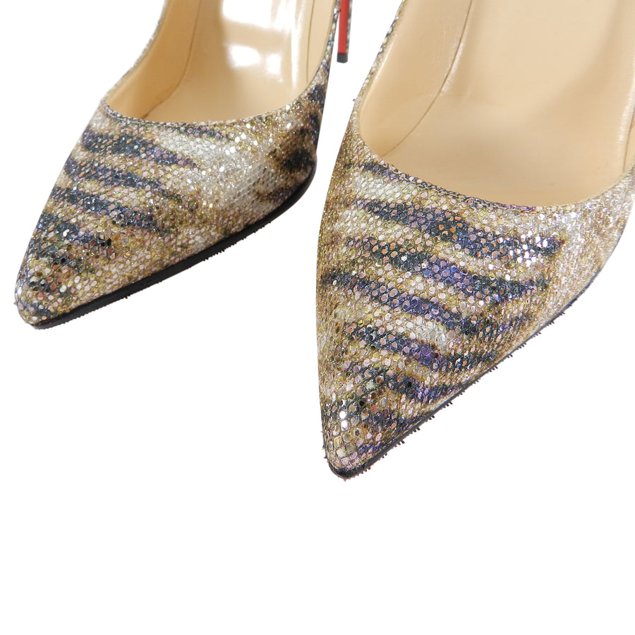 Christian Louboutin Gold Glitter Sirene Pigalle Follies 120mm - 41