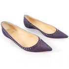 Christian Louboutin Purple Metallic Spike Anjalnia Flats - 36.5 / 6