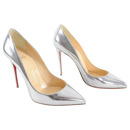 Christian Louboutin Pewter Silver Pumps High Heels - 40