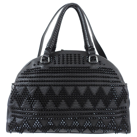 Christian Louboutin Black Panettone Large Studded Dome Bag