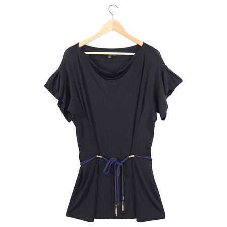 Louis Vuitton Black Jersey Rope Tunic Top / Dress - L (8/10)
