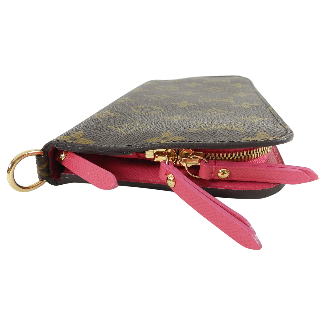 Louis Vuitton Brown and Pink Monogram Canvas Insolite Wallet