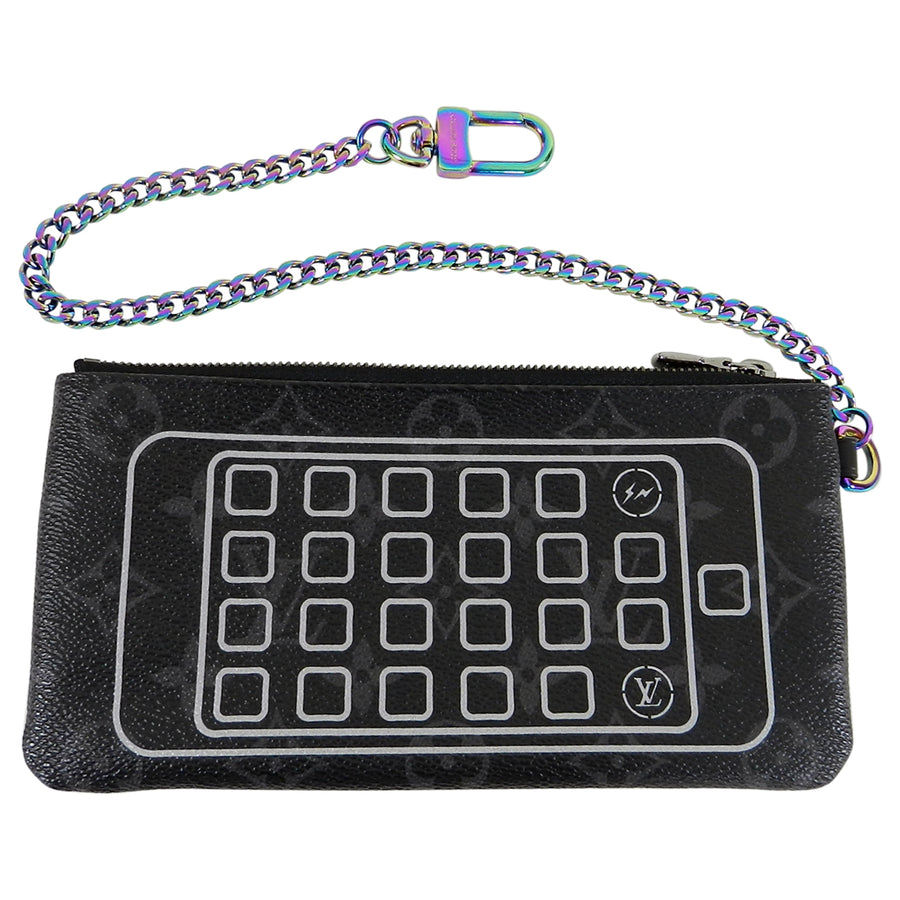 Louis Vuitton Fragment Monogram Eclipse Iphone Chain Wallet Bag