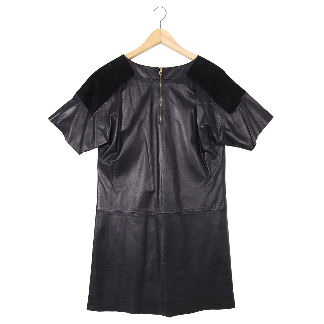 Louis Vuitton Short Sleeve Leather and Suede Mini Dress – FR34 / USA 2 / XS