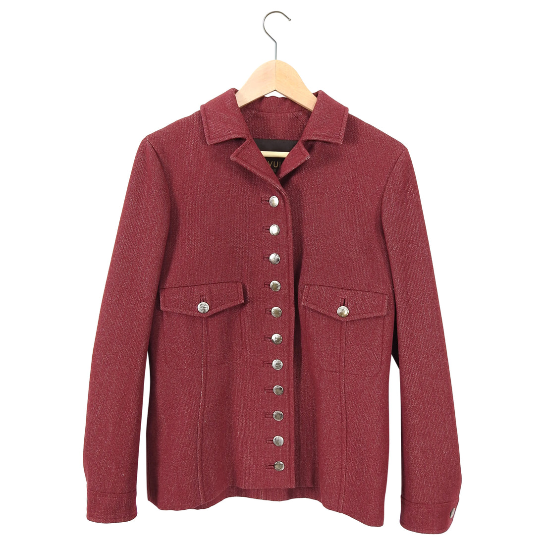 Louis Vuitton Red Wool Military Style Jacket - 38 / 6