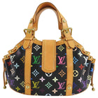 Louis Vuitton Multi Color Black Theda GM Tote Bag