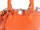 Louis Vuitton Orange Epi Alma PM Silvertone Hardware