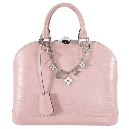 Louis Vuitton Light Pink Rose Ballerine Epi Alma PM with Charm