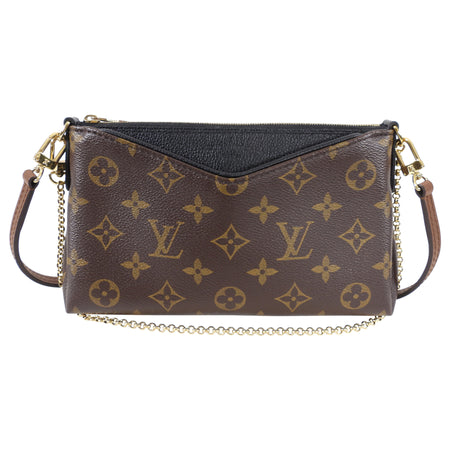 Louis Vuitton Monogram Canvas Pallas Clutch Convertible Crossbody Bag