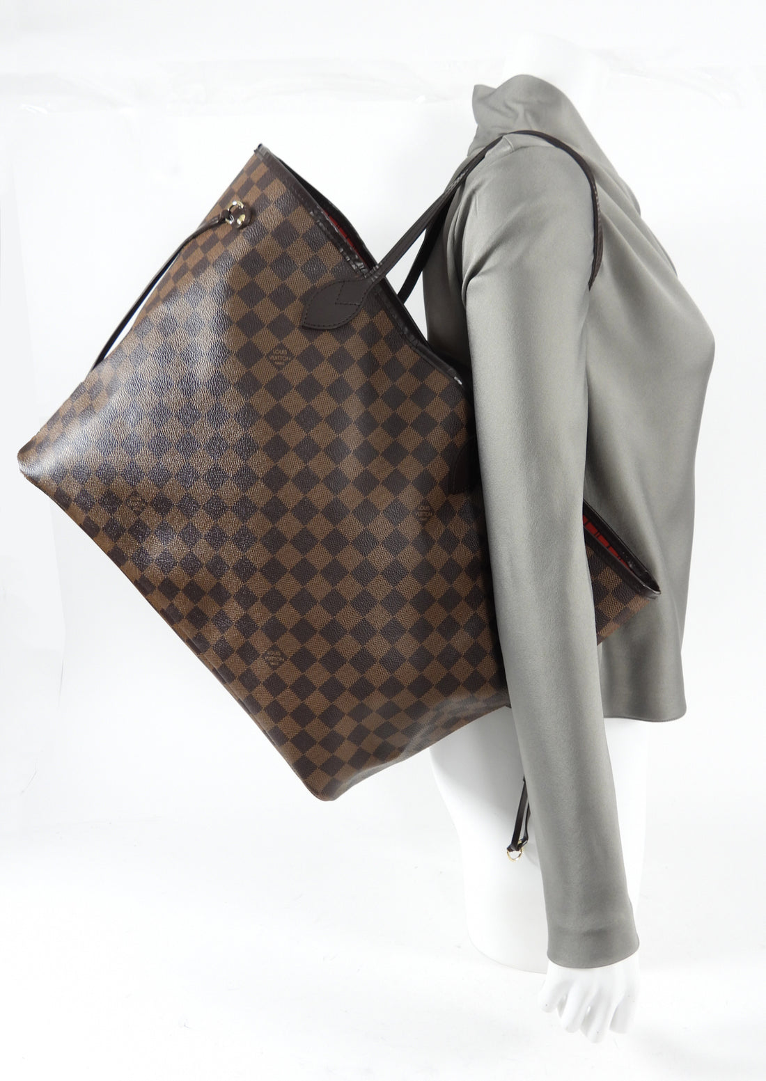 Louis Vuitton Damier Ebene Neverfull GM Tote Bag