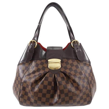 Louis Vuitton Damier Ebene Sistina Hobo Shoulder Bag