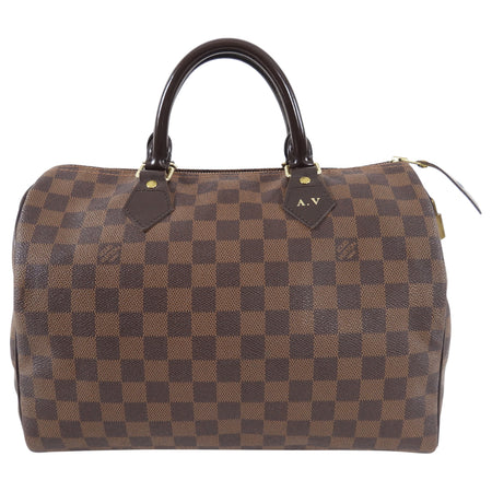 Louis Vuitton Damier Ebene Speedy 30 Doctor Duffle Bag