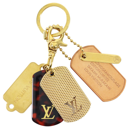 Louis Vuitton x Takashi Murakami Limited Edition Dog Tag Bag Charm