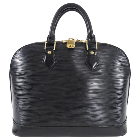 Louis Vuitton Black Epi Alma PM Domed Bag