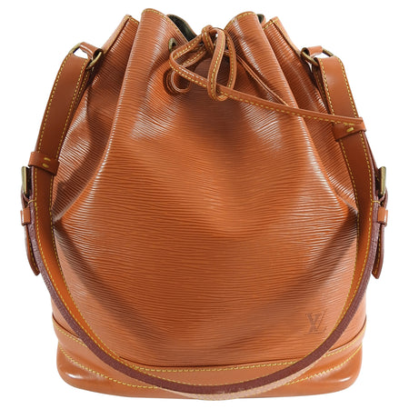 Louis Vuitton Vintage 1993 Tan Epi Leather Noe GM Bucket Bag