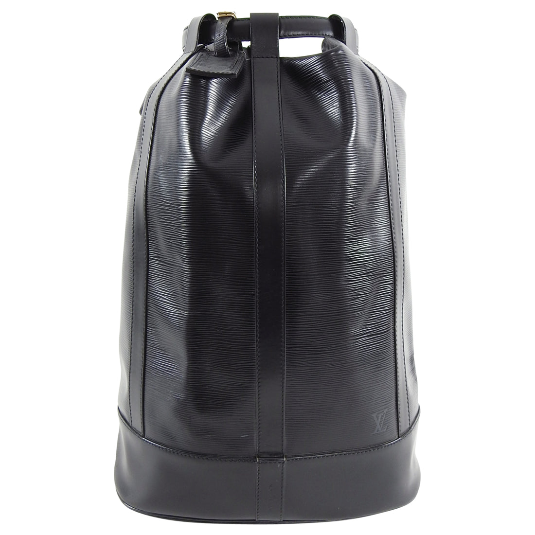 Louis Vuitton Black Epi Randonne GM Drawstring Bag