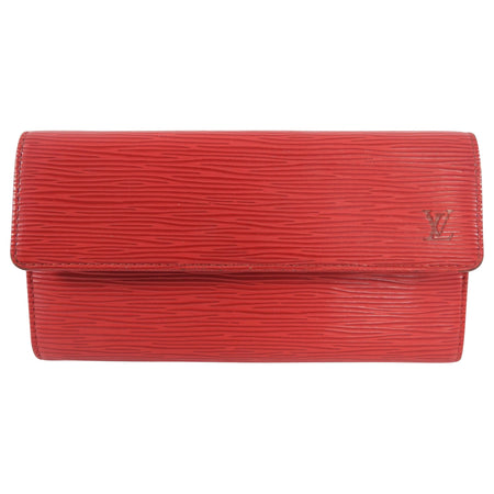 Louis Vuitton Red Epi Leather Continental Snap Wallet