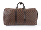 Louis Vuitton Damier Ebene Travel Duffle Bag Keepall 55