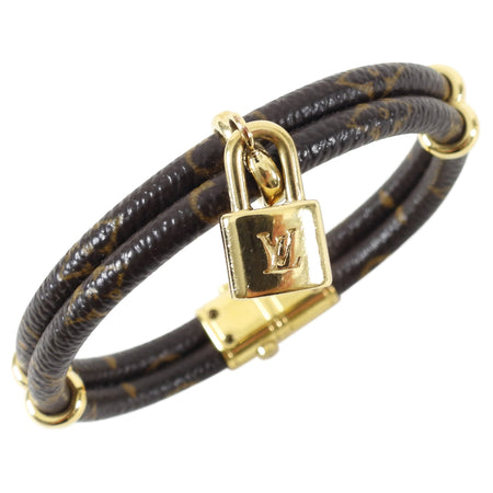 Louis Vuitton Monogram Canvas Keep it Twice Lock Bracelet