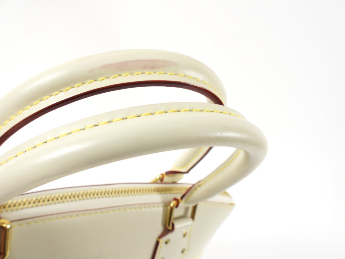 Louis Vuitton Lockit PM Ivory Suhali Leather Bag