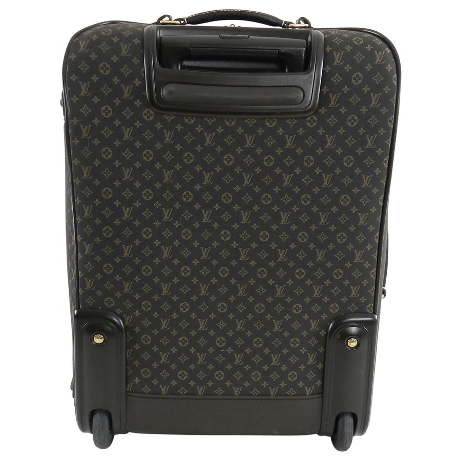 Louis Vuitton Fusain Brown Monogram Idylle Pegase 55 Rolling Luggage