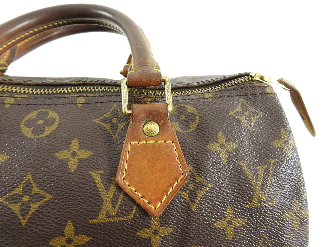 Louis Vuitton Vintage 1996 Monogram Speedy 30 Bag