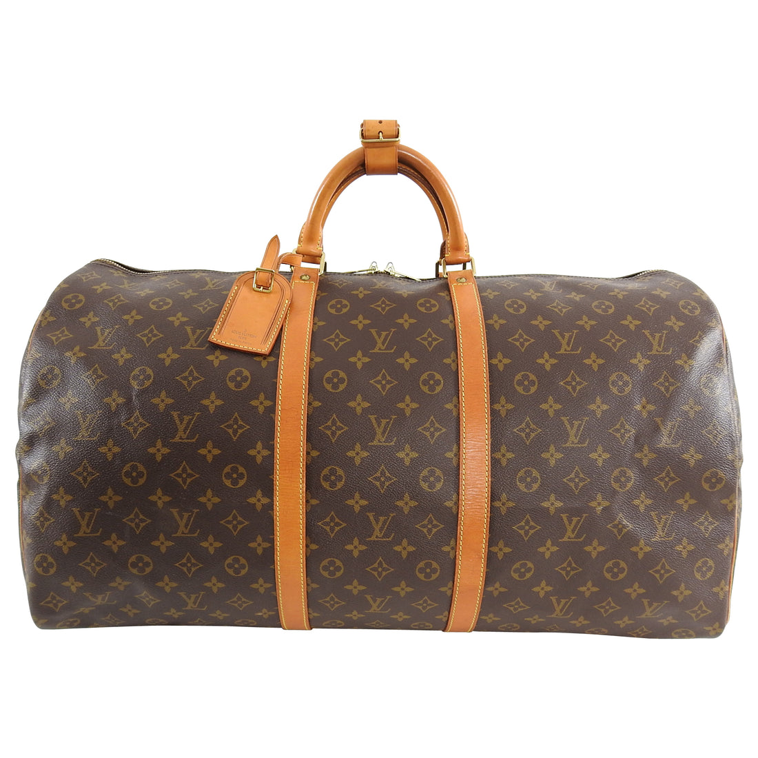 Louis Vuitton Vintage 1995 Monogram Keepall 60 Travel Duffle Bag