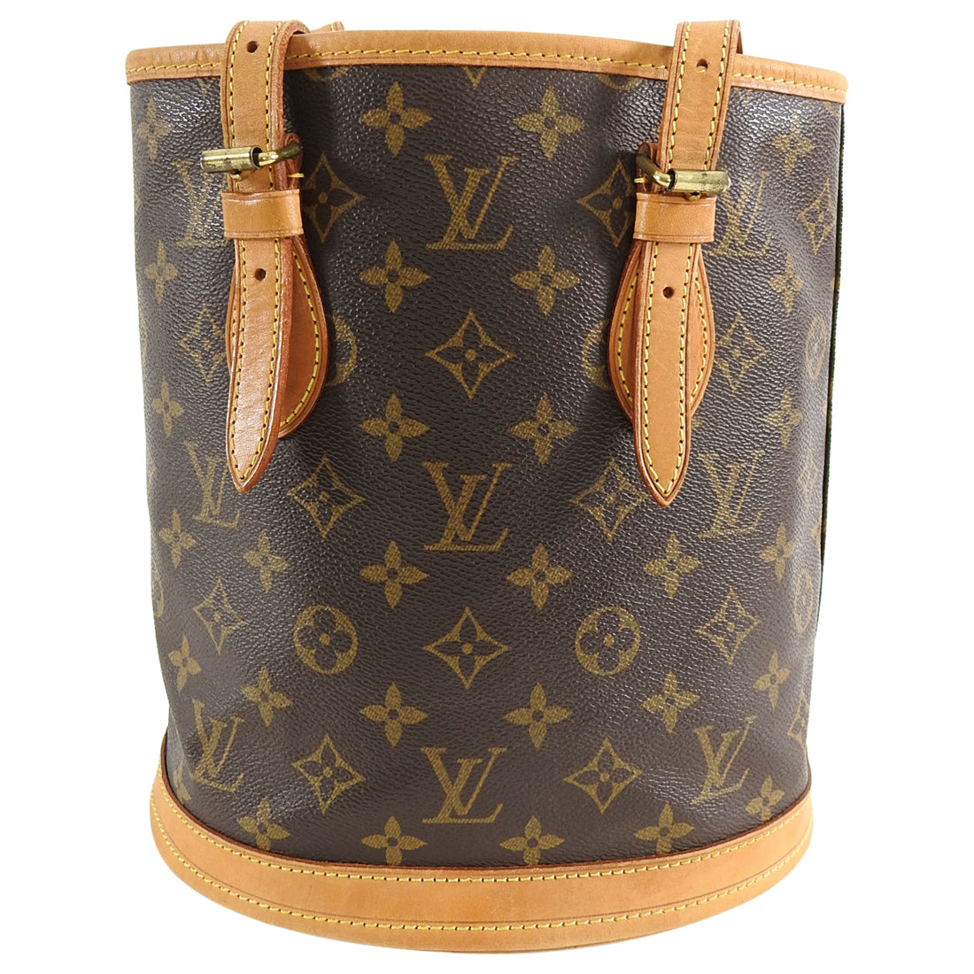 Louis Vuitton Monogram Petit Bucket Small Tote Bag