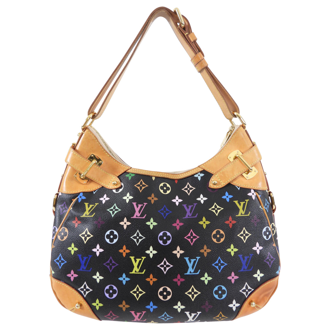 Louis Vuitton Multicolore Greta Monogram Noir Bag