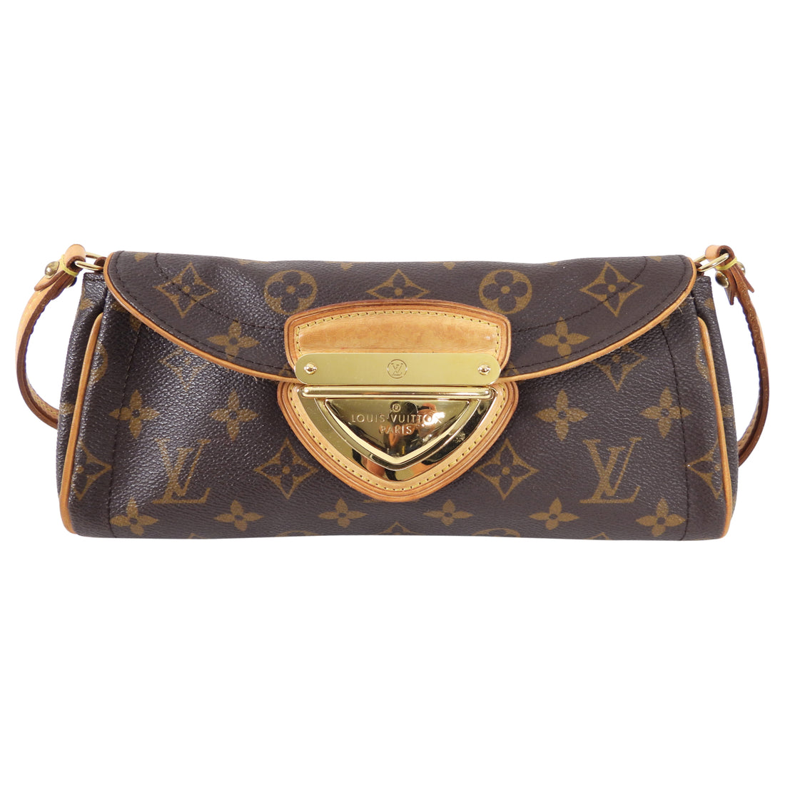 Louis Vuitton Monogram Canvas Small Beverly Clutch Pochette Bag